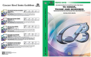 Alfred 00-BDM02002 To Honour- Thank and Remember - Music Book
