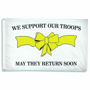 Annin Flagmakers 929037 3 ft. x 5 ft. Support Our Troops
