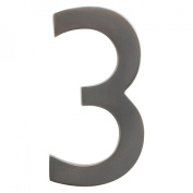 Architectural Mailboxes 3585DC-3 Solid Cast Brass 5 in. Dark Aged Copper Floating House Number 3