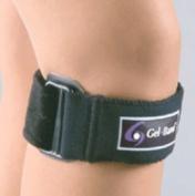 FLA Orthopedics FL37-500UNBLK GELBAND PATELLA KNEE STRAP - Color- Black
