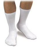 Activa H31314 CoolMax Athletic Crew Support Socks 20-30 mmHg - Size- X-Large White