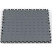 Raised Coin Multi-Purpose PVC Floor Tile in Dove Grey