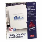 Avery Consumer Products AVE73899 Sheet Protectors- Top-Load- 7 Hole- 36cm .x8-.130cm .- 50 Sht- Clear