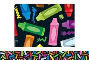 Carson Dellosa CD-108117 Crayons Border
