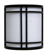 Efficient Lighting EL-156-123-BLK Timeless Outdoor Wall Pack Die Cast Aluminum Powder Coated Black Acrylic Lens with Built-in photocell