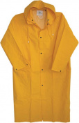 Boss Gloves 48in. Extra Large Yellow 35mm Lined PVC Raincoat 3PR8000YX