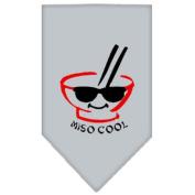 Mirage Pet Products 66-52 SMGY Miso Cool Screen Print Bandana Grey Small