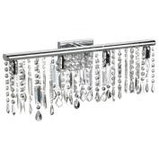 Dainolite 85324W-PC 4-Light Crystal Vanity