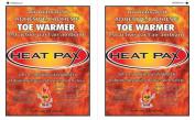 Techniche 5570_10pack Heat Pax Air Activated Adhesive Toe Warmers - 10 Packs