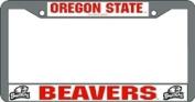 Caseys Distributing 9474624185 Oregon State Beavers Chrome Licence Plate Frame