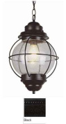 Trans Global Lighting 69906 BK Coastal 1 Light Large Onion Outdoor Hanging - Black