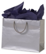 Bags & Bows by Deluxe 244M-130510-7 Silver Matte Laminated Euro-Shoppers - Case of 100
