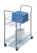 Safco 7754 35W x 16-1/4D Economy Mail Cart - Gray