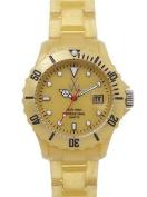 Toy Watch FLP02GD Toy Watch Plasteramic Pearilzed Pearl Gold Watch FLP02GD