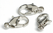 Cousin 479931 Jewellery Basics Metal Findings 24-Pkg-Silver Lobster Claw Clasp
