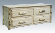 Montana Woodworks MWSC Sitting Chest with 4 Drawers - Ready To Finished