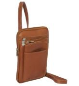 Piel Leather 8625 Hanging Travel Organizer - Saddle