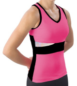Pzazz Performance Wear 5700 -HPKBLK-YXS 5700 Youth Panel Top with Keyhole - Hot Pink with Black - Youth X-Small