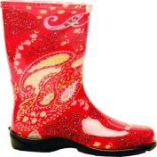 Sloggers Size 6 Paisley Red Womens Tall Garden Boot 5004RD06