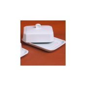 Pillivuyt 270313BX Large Butter Tray With Cover European Style - 17.8cm x 11.4cm