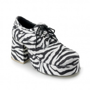 Pleaser Shoes Costumes Adult, Zebra Platform Shoes, 12-13