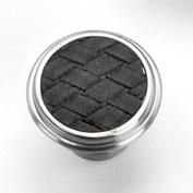 Strategic Brands 12093 1.13 in. Round Knob-Satin Nickel-Black