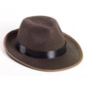 Forum Novelties Brown Fedora Adult Hat One-Size
