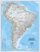 National Geographic RE00620151 Map Of South America - Enlarged And Laminated