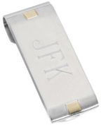 Visol VMC706 Andromeda Stainless Steel Money Clip With Gold Plated Accents