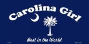 LP-179 Carolina Girl Blue Licence Plate
