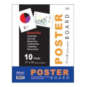 Bazic 512- 48 28cm . x 36cm . White Poster Board- Pack of 48