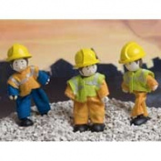 Le Toy Van BK903 Budkins Bendy Wooden Doll Workmen Gift Pack Set