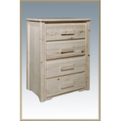 Montana Woodworks MWHC4DV Homestead 4 Drawers Chest - Lacquer