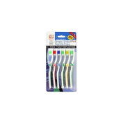 6 Pack children & -039;s wave bristle toothbrushes - Pack of 24