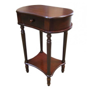 Ore International H-114A Wide Side Table - Cherry