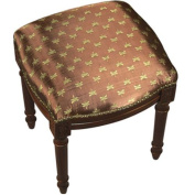 123 Creations C693FS.15x16x19 inch Dragonfly in Brown Fabric Upholstered Stool in Brown Hardwood