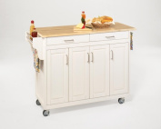Home Styles 9200-1021 Create-a-Cart White Finish with Wood Top