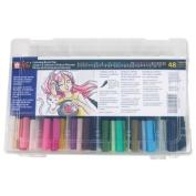 Koi XBR-48SA 48-Colour Set Colouring Brush Pens