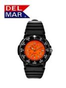 Del Mar 50249 Mens Dive 200 Orange Dial PU Watch