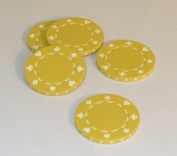 WorldWise Imports 35117 Yellow Suited Poker Chips - Roll of 50