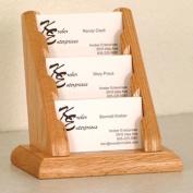 Wooden Mallet BCC1-3LO 3 Pocket Countertop Business Card Holder in Light Oak