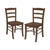 Winsome 94332 Groveland 3pc Square Dining Table with 2 Chairs