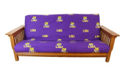 College Covers LSUFC LSU Futon Cover- Full Size fits 8 and 10 inch mats