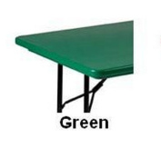 Correll R3072TL-29 T-Leg Plastic Folding Table - Green