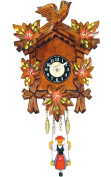 Alexander Taron 126/6SQ Girl with Swing/Flowers Carved Quartz Wall Clock