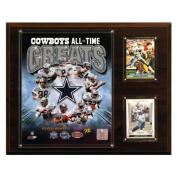 C & I Collectables 1215COWBOYSGR NFL 12 X 15 Dallas Cowboys All-Time Greats Photo Plaque