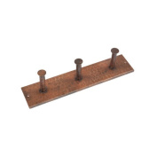 Premier Copper Products RH3 Hand Hammered Copper Triple Robe Hook Oil Rubbed Bronze