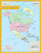 Teacher Created Resources TCR7655 North America Map Chart 17X22