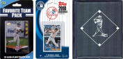 C & I Collectables 2010YANKEESTSC MLB New York Yankees Licenced 2010 Topps Team Set and Favourite Player Trading Cards Plus Storage Album