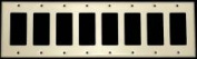 Quality Home Items 609050 8G Std Decora Switch Plate in White